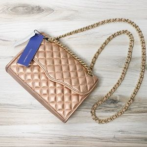 Rebecca Minkoff Quilted Mini Affair in Rose Gold